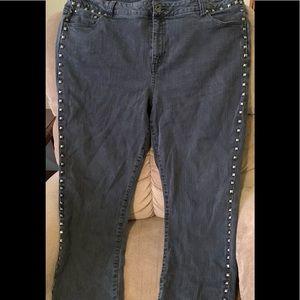 Ashley Stewart size 22 studded jeans